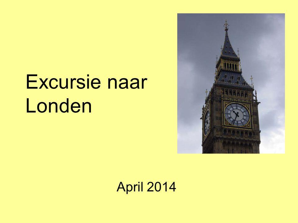 Excursie naar Londen April 2014