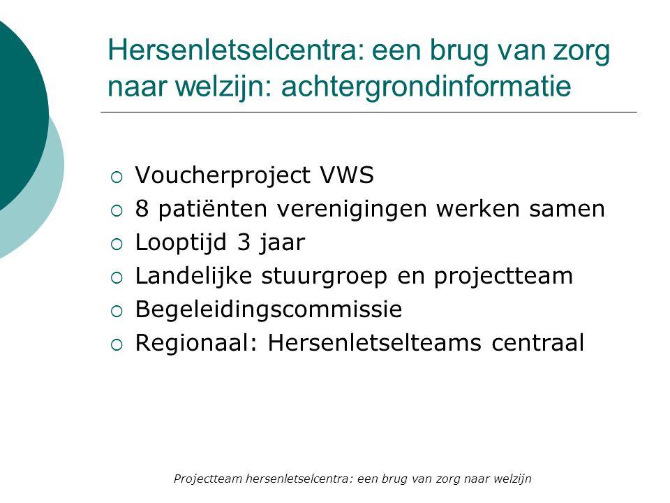 Projectteam hersenletselcentra: een brug van zorg naar welzijn