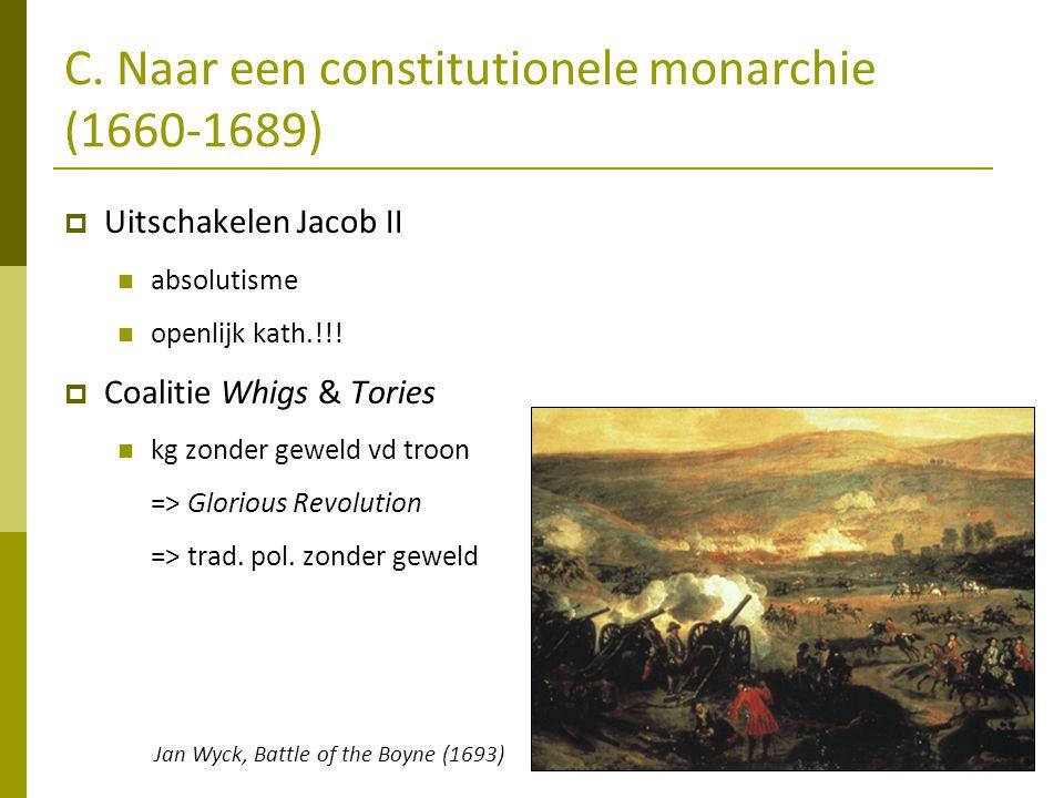 C. Naar een constitutionele monarchie (1660-1689)