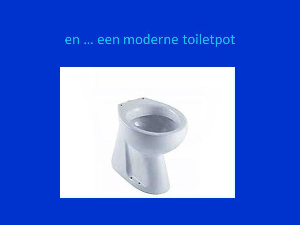 en … een moderne toiletpot