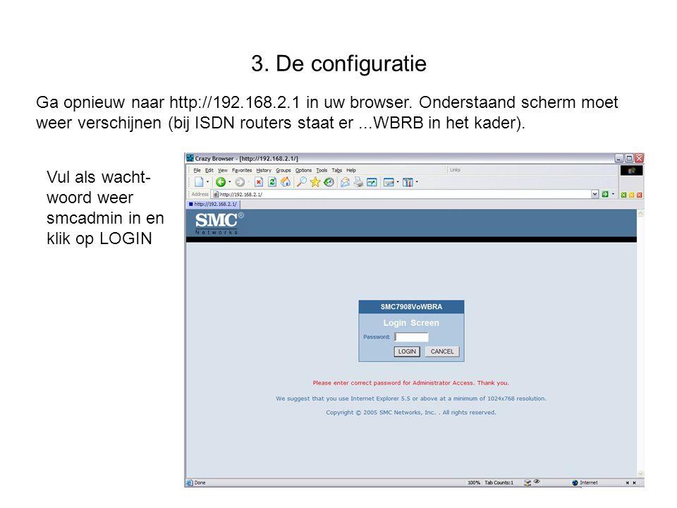 3. De configuratie