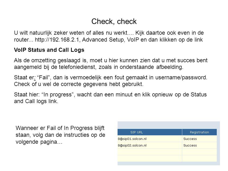 Check, check