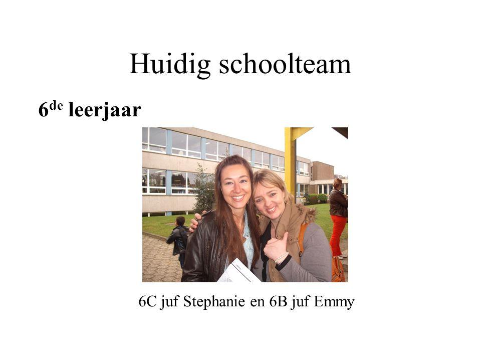 Huidig schoolteam 6de leerjaar 6C juf Stephanie en 6B juf Emmy