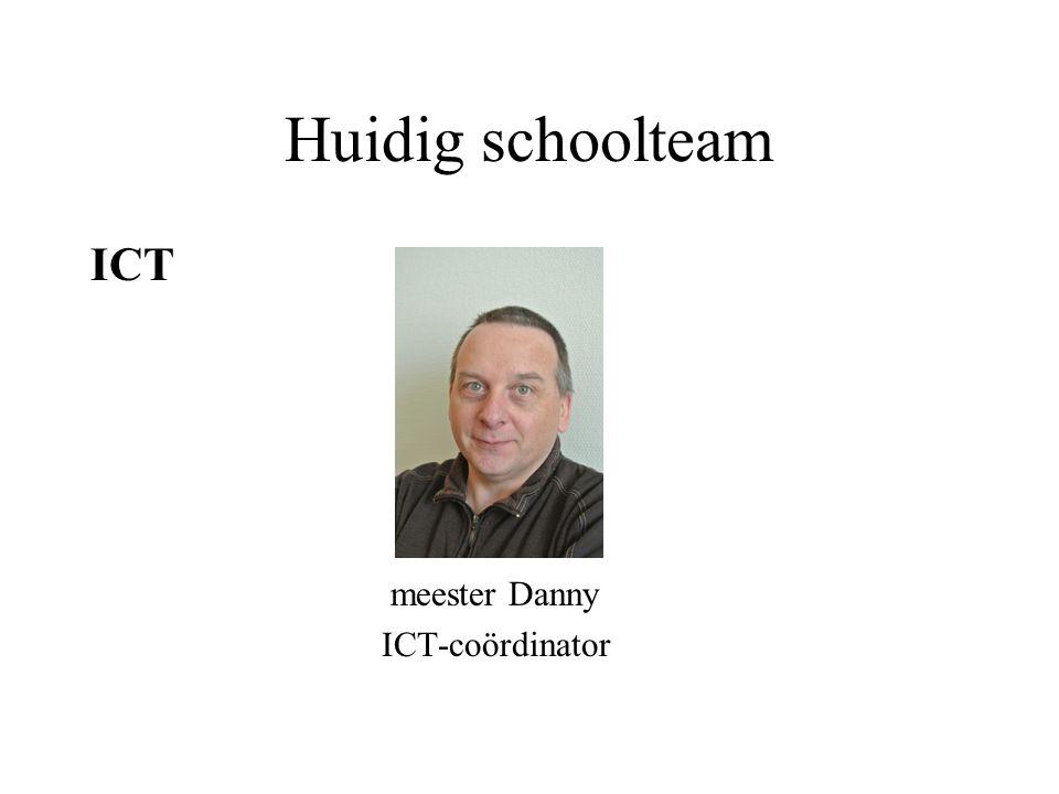 Huidig schoolteam ICT meester Danny ICT-coördinator