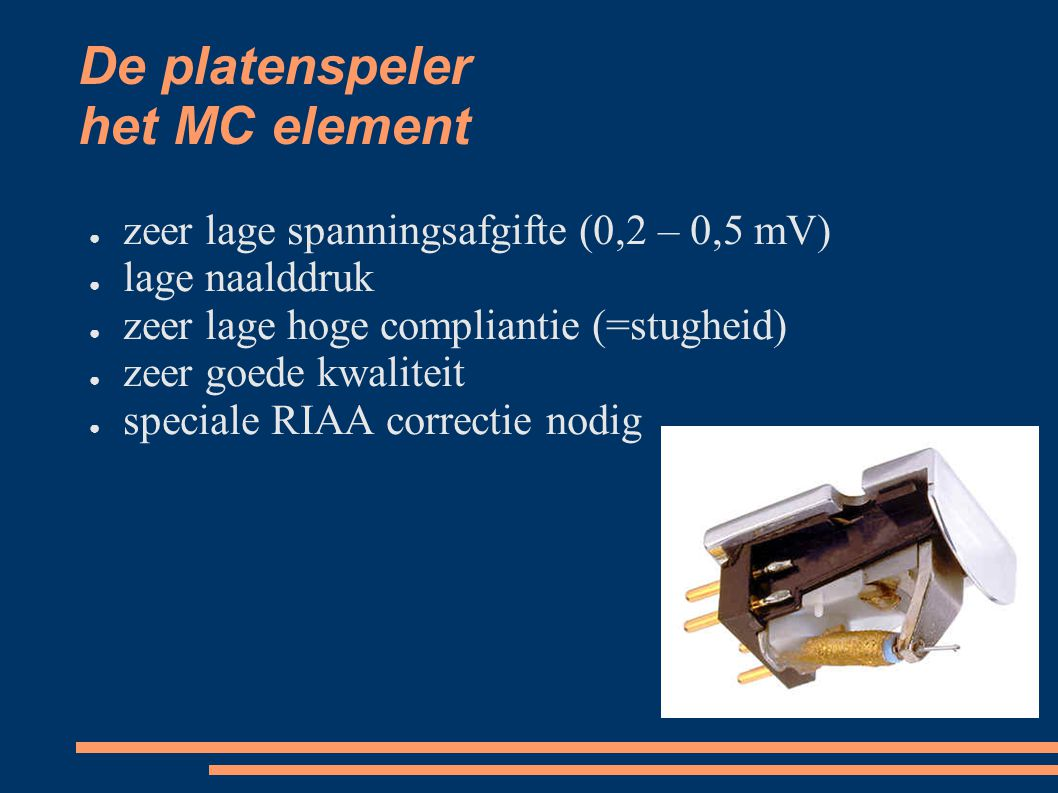 De platenspeler het MC element