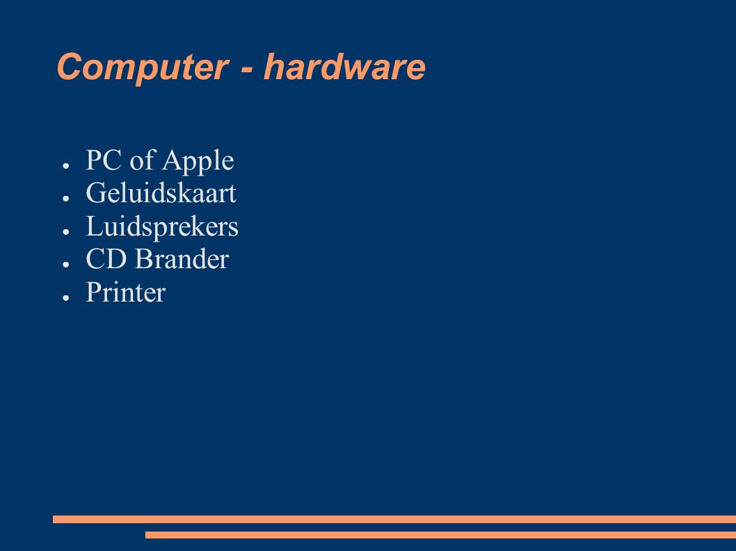 Computer - hardware PC of Apple Geluidskaart Luidsprekers CD Brander