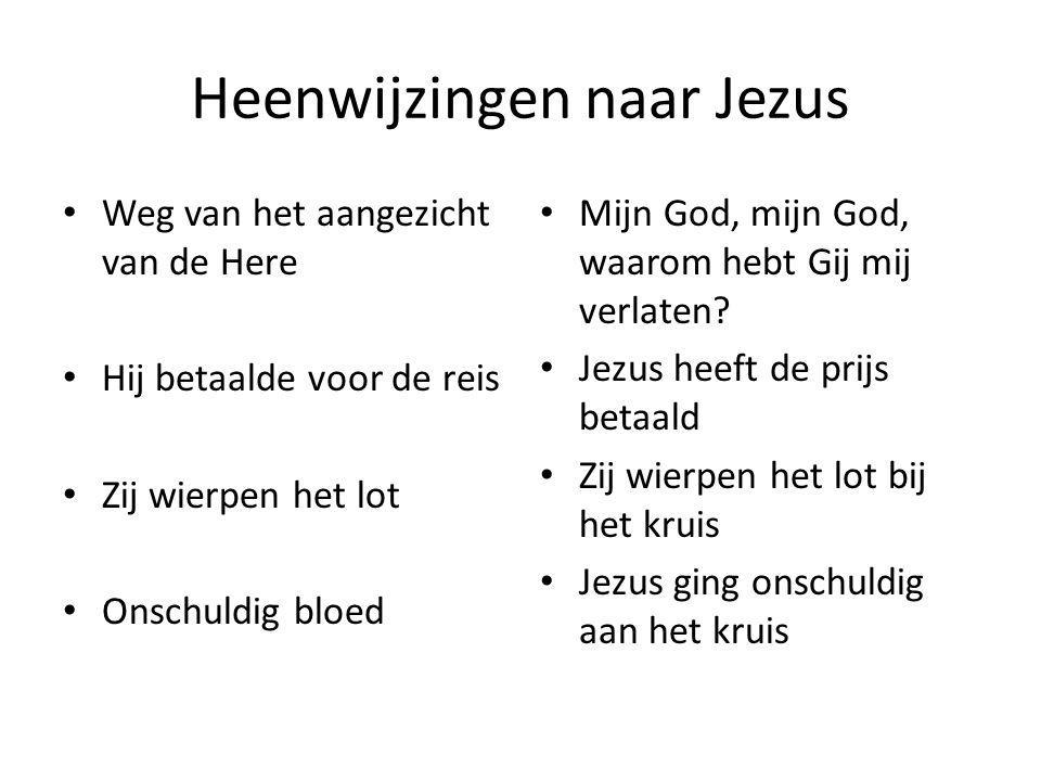 Heenwijzingen naar Jezus