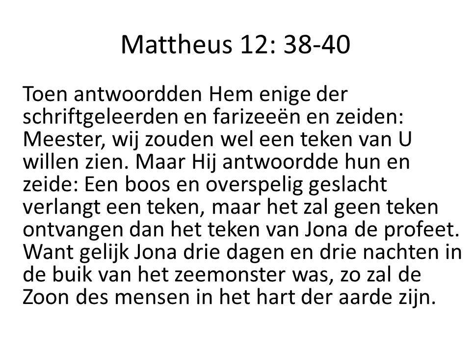 Mattheus 12: 38-40