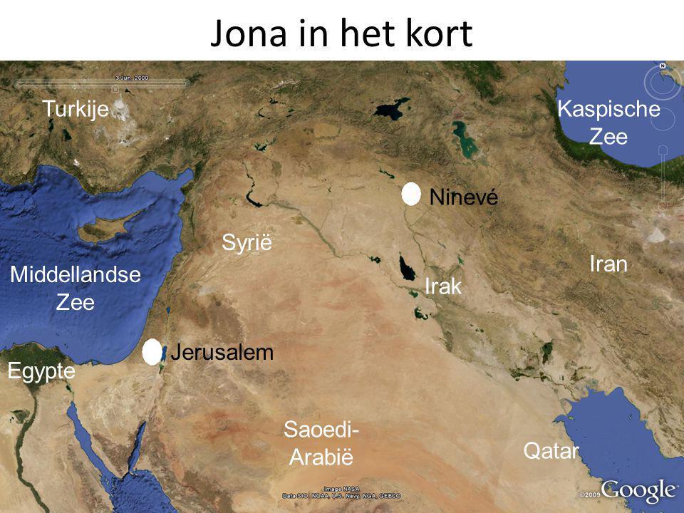 Jona in het kort Egypte Middellandse Zee Saoedi-Arabië Irak Qatar