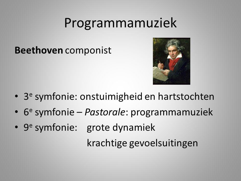 Programmamuziek Beethoven componist
