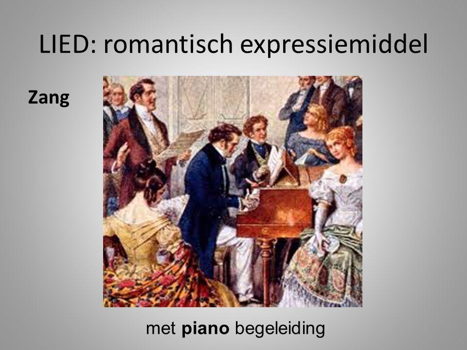 LIED: romantisch expressiemiddel