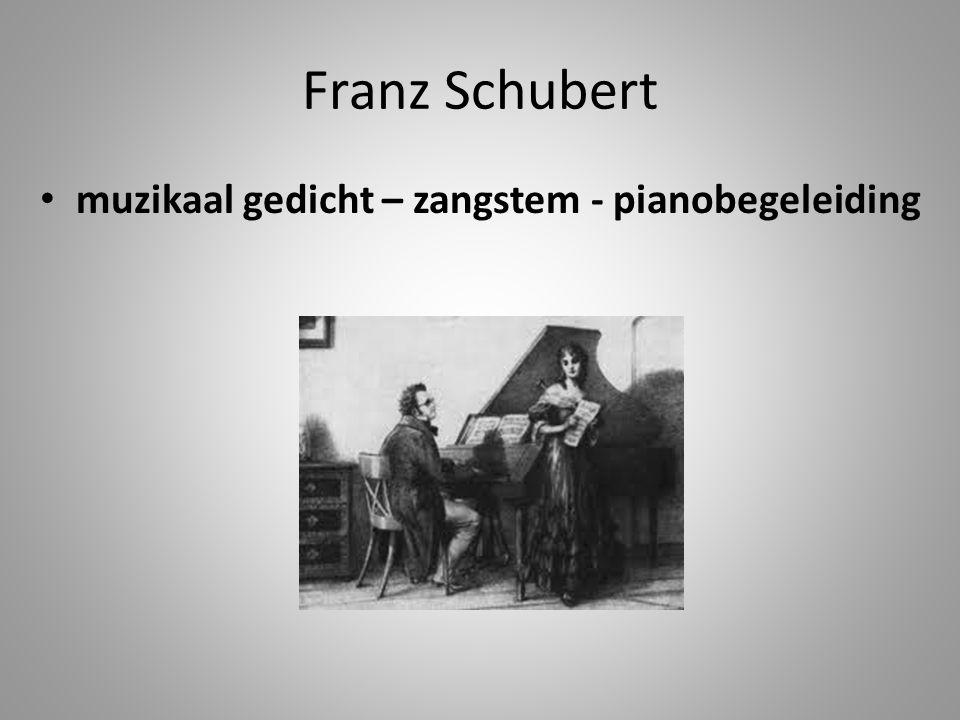 muzikaal gedicht – zangstem - pianobegeleiding