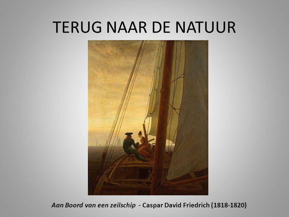 Aan Boord van een zeilschip - Caspar David Friedrich (1818-1820)
