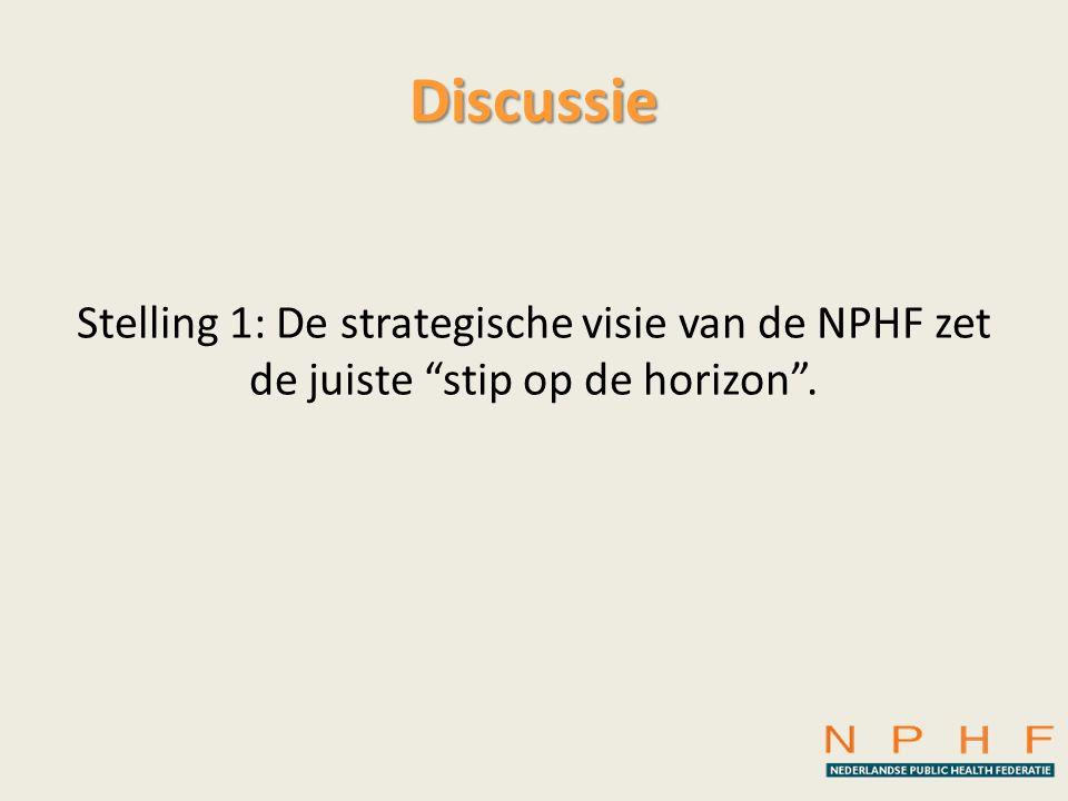 Discussie Stelling 1: De strategische visie van de NPHF zet de juiste stip op de horizon .