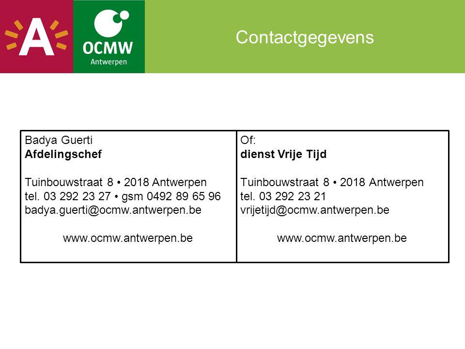 Contactgegevens Badya Guerti Afdelingschef