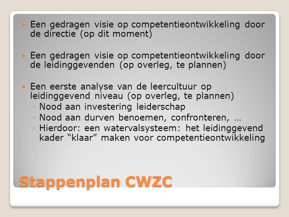 Een gedragen visie op competentieontwikkeling door de directie (op dit moment)