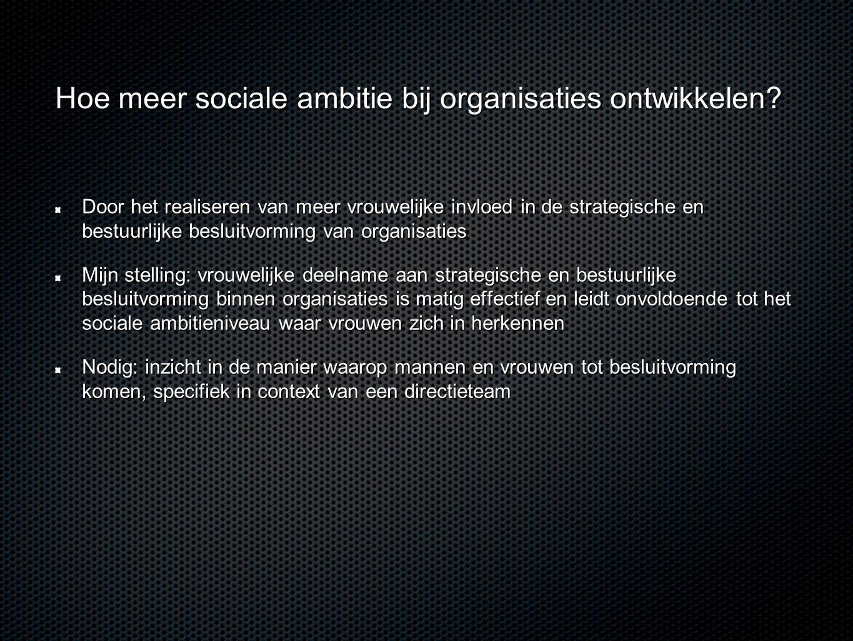 Hoe meer sociale ambitie bij organisaties ontwikkelen