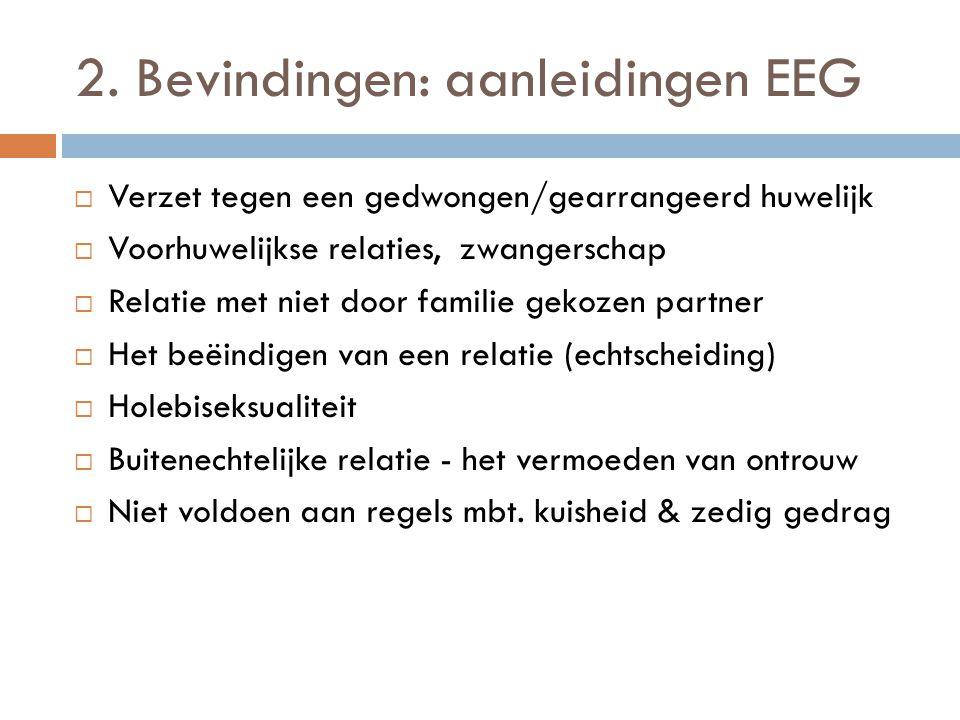 2. Bevindingen: aanleidingen EEG