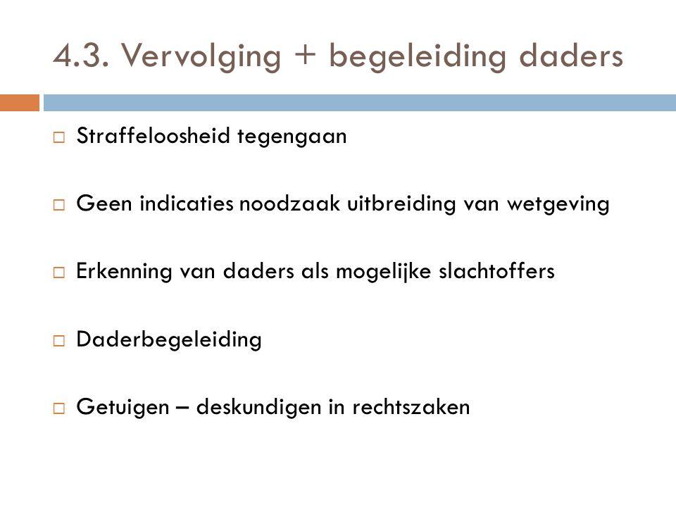 4.3. Vervolging + begeleiding daders