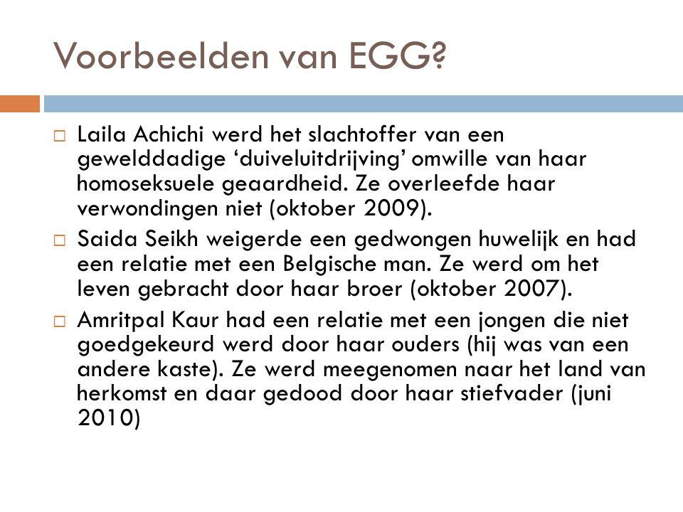 Voorbeelden van EGG
