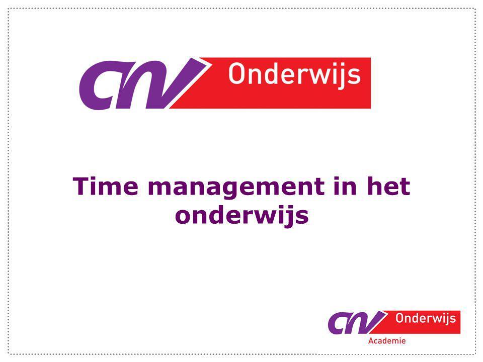 Time management in het onderwijs