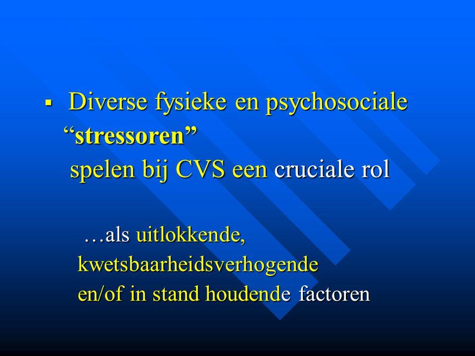 Diverse fysieke en psychosociale stressoren