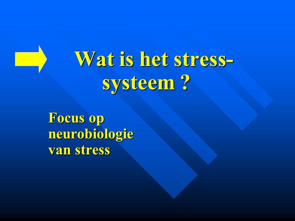 Wat is het stress- systeem Focus op neurobiologie van stress