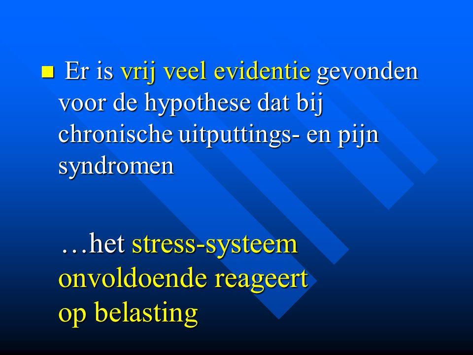 Er is vrij veel evidentie gevonden voor de hypothese dat bij chronische uitputtings- en pijn syndromen