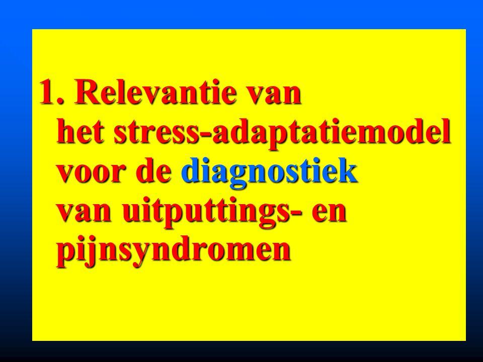 1. Relevantie van het stress-adaptatiemodel voor de diagnostiek van uitputtings- en pijnsyndromen