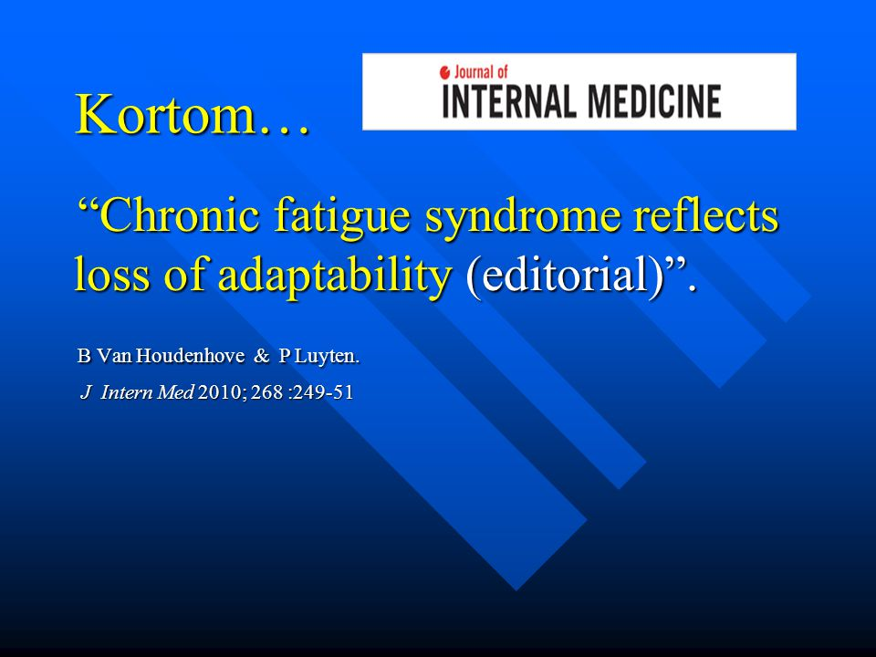 Chronic fatigue syndrome reflects loss of adaptability (editorial) .