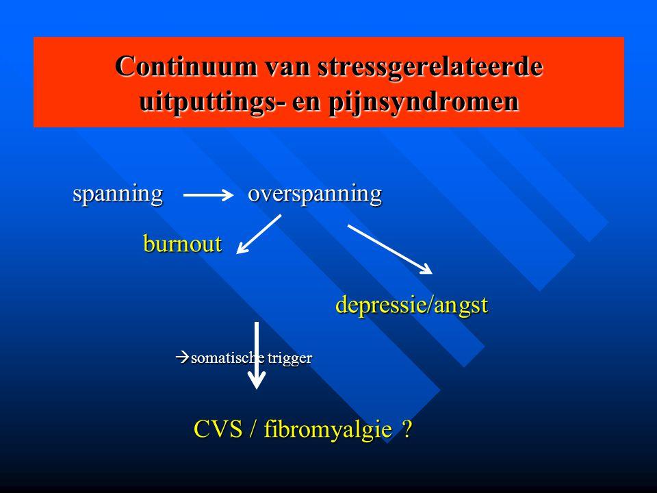 Continuum van stressgerelateerde uitputtings- en pijnsyndromen