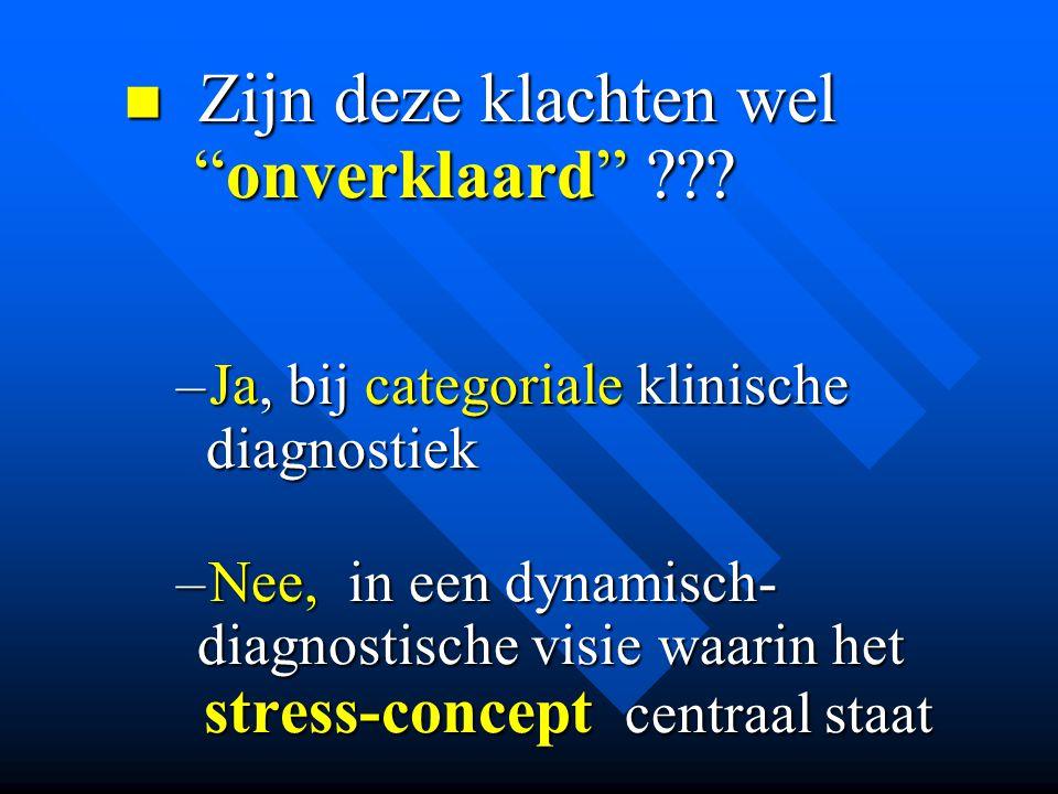 Zijn deze klachten wel onverklaard stress-concept centraal staat