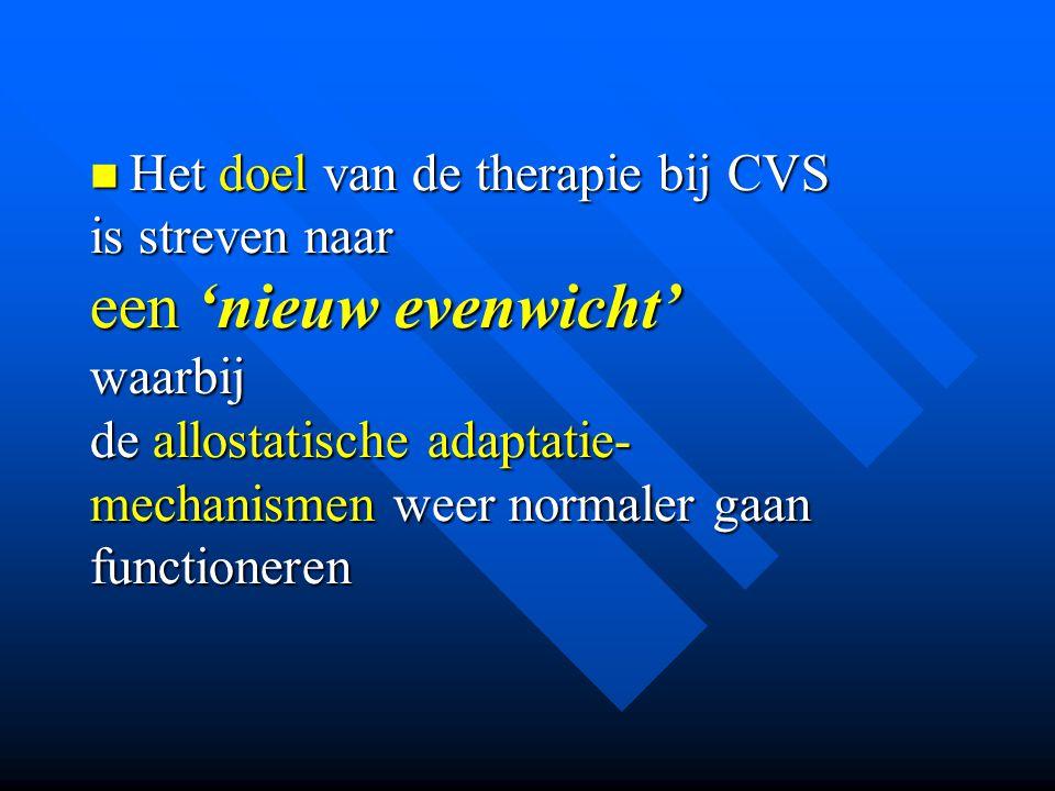 een 'nieuw evenwicht' Het doel van de therapie bij CVS is streven naar