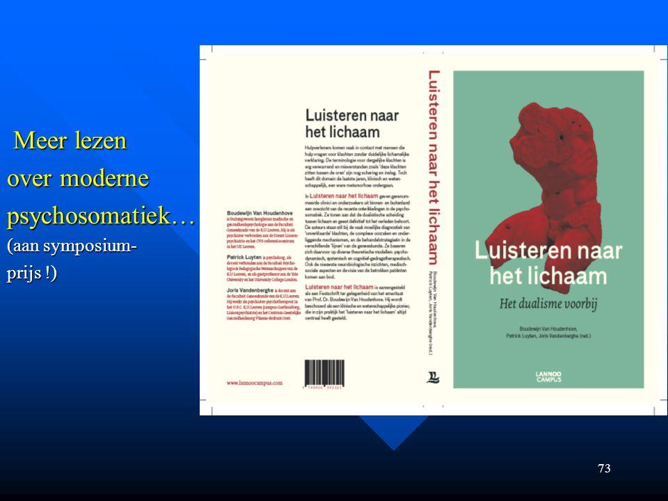 Meer lezen over moderne psychosomatiek… (aan symposium- prijs !)