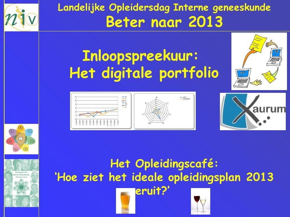 Beter naar 2013 Inloopspreekuur: Het digitale portfolio