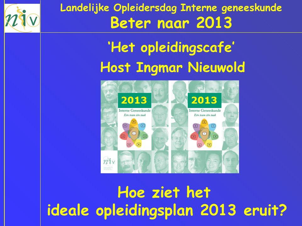 Beter naar 2013 Hoe ziet het ideale opleidingsplan 2013 eruit