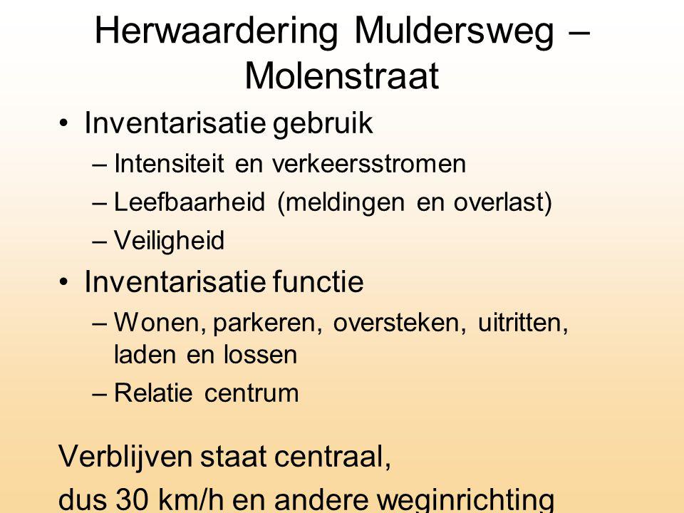 Herwaardering Muldersweg – Molenstraat
