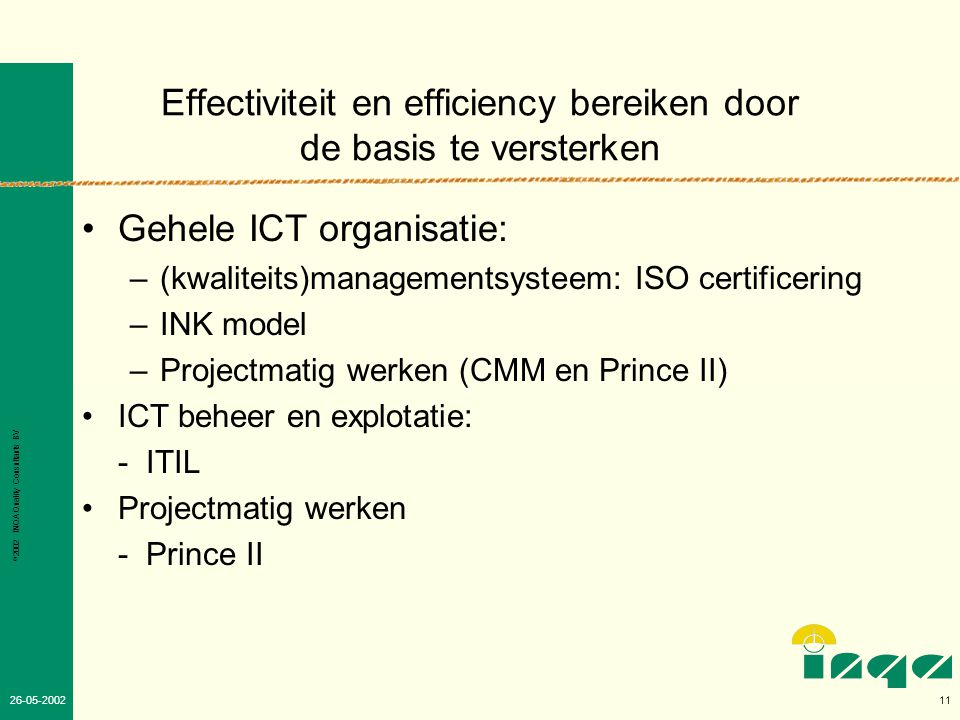 Effectiviteit en efficiency bereiken door de basis te versterken