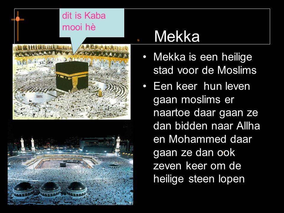 Mekka Mekka is een heilige stad voor de Moslims