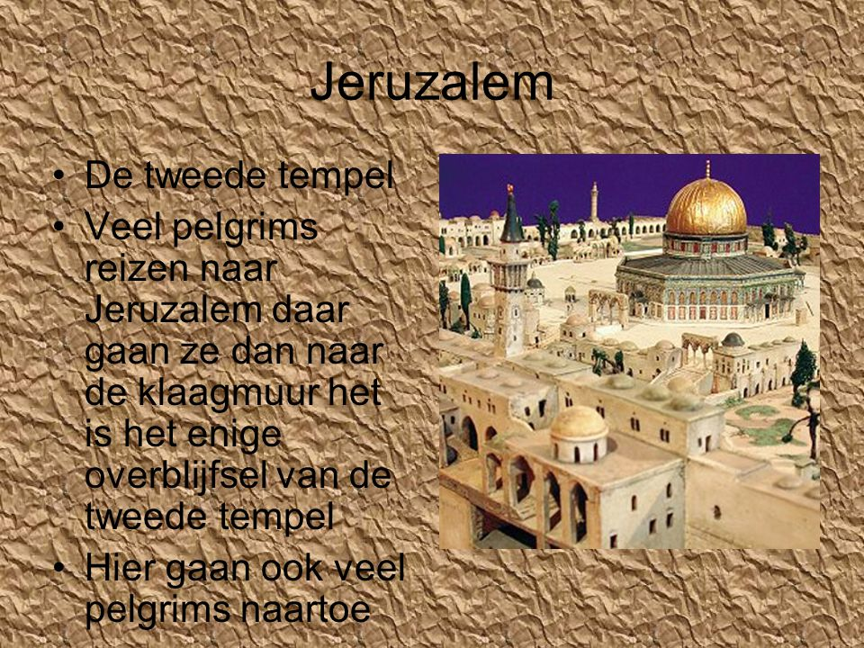 Jeruzalem De tweede tempel