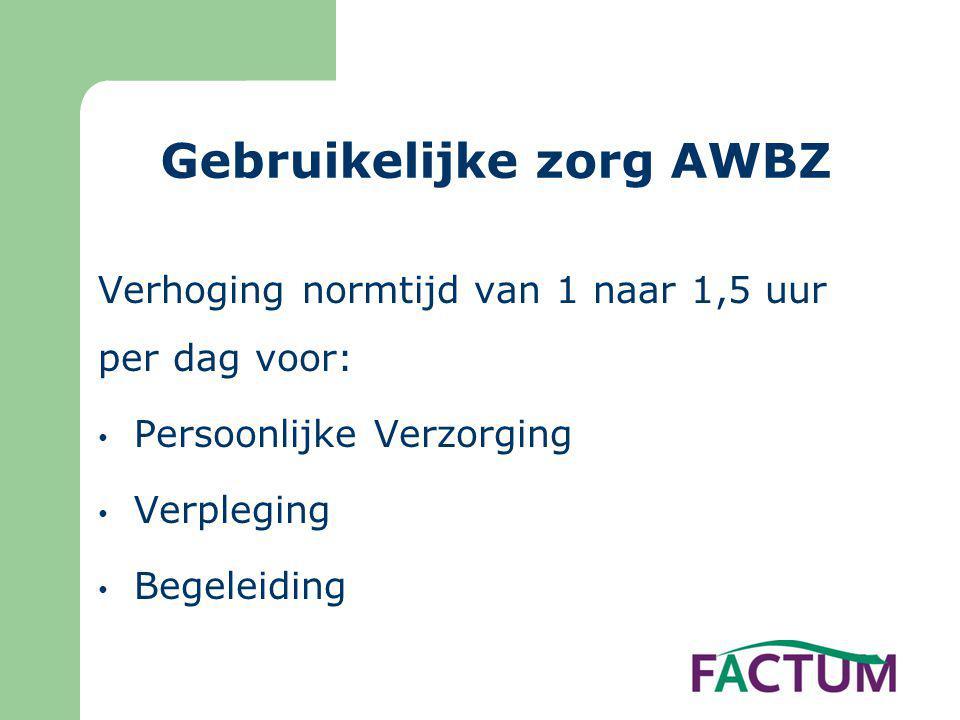 Gebruikelijke zorg AWBZ