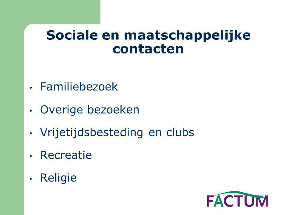 Sociale en maatschappelijke contacten