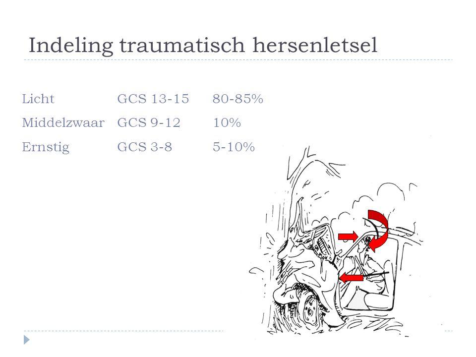 Indeling traumatisch hersenletsel