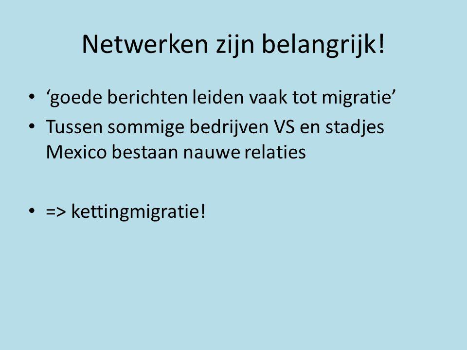 Netwerken zijn belangrijk!