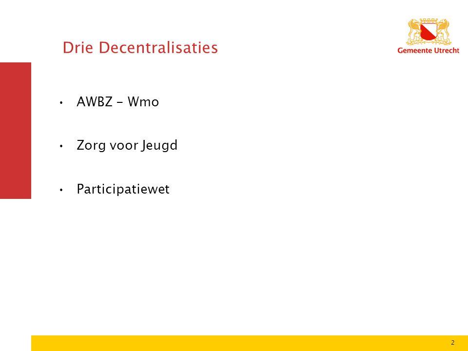 Hoe bereidt de gemeente zich voor op decentralisatie AWBZ naar Wmo