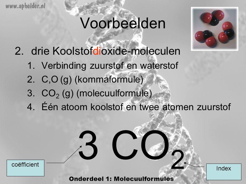 Onderdeel 1: Molecuulformules