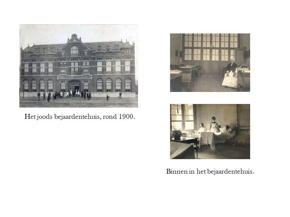 Het joods bejaardentehuis, rond 1900.