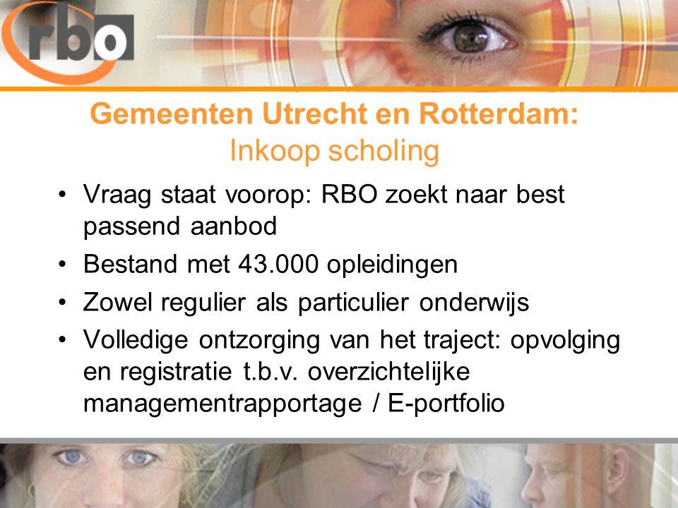 Gemeenten Utrecht en Rotterdam: Inkoop scholing