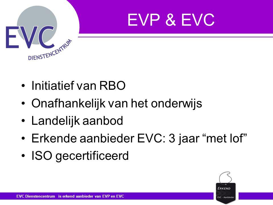 EVP & EVC Initiatief van RBO Onafhankelijk van het onderwijs