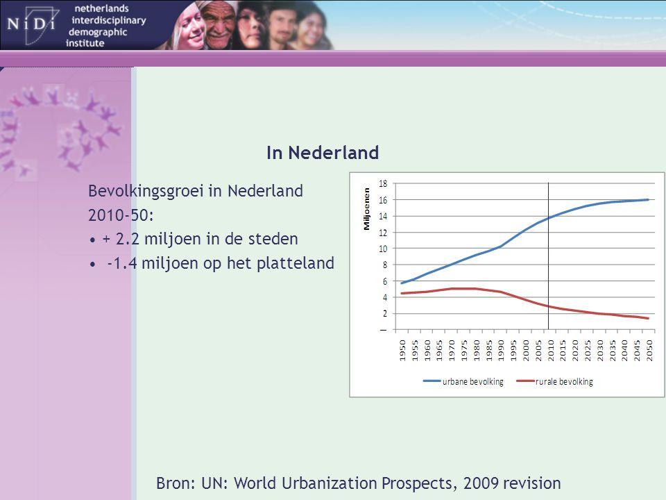 In Nederland Bevolkingsgroei in Nederland 2010-50: